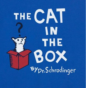 """the cat in the box"" by Dr. Schrödinger"